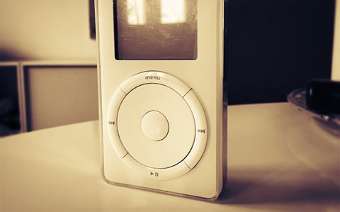 Retro MP3 - Den originale iPod i glas og ramme